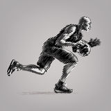 Basketball player. Vector artwork in the style of ink drawing vector illustration