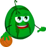 Basketball player watermelon Stock Photos