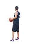 Basketball player on white Stock Photos