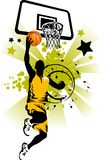 Basketball player in yellow Stock Image