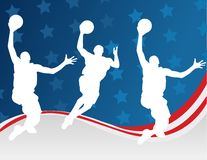 Basketball players royalty free illustration