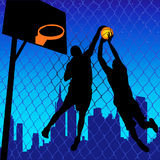 Basketball Players. Vector illustration of two basketball players Royalty Free Stock Photos