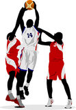 Basketball players Stock Images