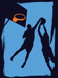 Basketball Players. Vector illustration of basketball players Royalty Free Stock Images