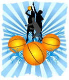 Basketball Players Royalty Free Stock Images