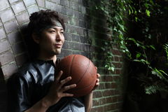 Basketball players Royalty Free Stock Photo