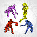 Basketball players collection vector Royalty Free Stock Photo
