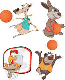 The basketball players. Royalty Free Stock Photos