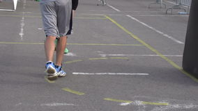 Basketball Players on the Court stock footage