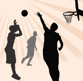 Basketball Players Illustration stock photo