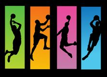 Basketball players illustration Stock Image