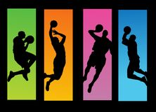 Basketball players illustration Royalty Free Stock Photos