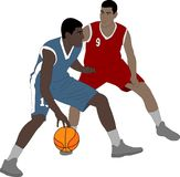Basketball players illustration. Basketball players detailed illustration - vector Stock Photography