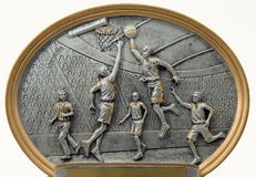 Basketball Players Sculpture. This is a basketball players sculpture Stock Photos