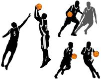Free Basketball Players Silhouettes Collection 2 Stock Images - 103889994