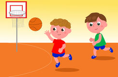 Basketball players vector Royalty Free Stock Images