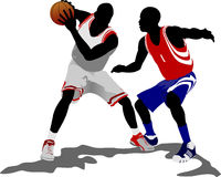 Basketball players. Vector illustration Royalty Free Stock Photos