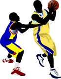 Basketball players. Vector illustration. For designers vector illustration