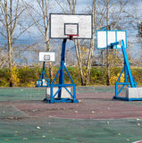 Basketball Playground for fans of games and sports. Royalty Free Stock Image