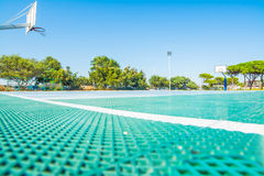 Basketball playground in Poetto beach Stock Photo