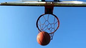 Basketball Playing in Open Area stock video footage