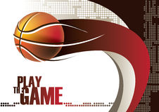 Basketball poster. With abstract background. Vector illustration Royalty Free Stock Photos
