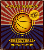 Basketball poster. Stock Image