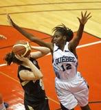 Basketball Quebec verteidigen Lizenzfreie Stockfotografie