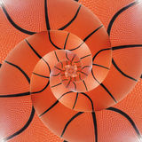 Basketball Recurring Spiral Sports Background. Texture Stock Image