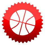 Basketball, Red sun sign Royalty Free Stock Images