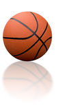 Basketball with reflection royalty free stock image