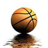 Basketball Reflection Royalty Free Stock Photo