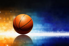Basketball with reflection Stock Images