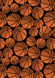 Basketball repeat pattern. Stock Photo