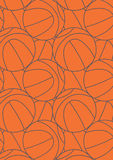 Basketball repeat pattern. Royalty Free Stock Photo