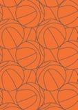 Basketball repeat pattern. Vector illustration of a basket ball in a repeat pattern Royalty Free Stock Photo