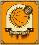 Basketball retro poster. Royalty Free Stock Images