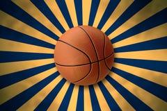 Basketball on Retro Starburst Stock Photos