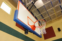 Basketball rim. A picture of a basketball rim royalty free stock photo