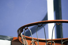 Basketball Rim. A clear backboard and basketball hoop Royalty Free Stock Images
