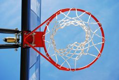 Basketball Rim and Net. Placed outside for an outdoors pickup game Stock Images