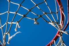 Basketball rim and net Royalty Free Stock Photography