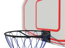 Basketball ring. Isolated on white Royalty Free Stock Photos
