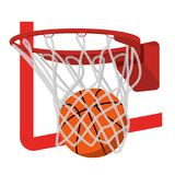 Basketball ring with ball  illustration. On the image presented Basketball ring with ball  illustration Stock Photo