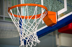 Basketball ring with a grid Stock Photos