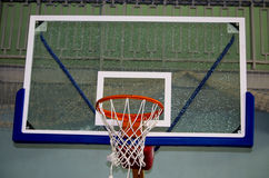 Basketball ring with a grid Royalty Free Stock Image
