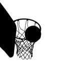Basketball Sailing Through Hoop Stock Photos