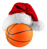 Basketball santa hat Royalty Free Stock Photo