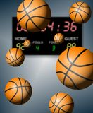 Basketball score Royalty Free Stock Images