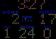 Basketball Scoreboard Stock Images